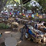 Souveniermarkt in Swaziland.