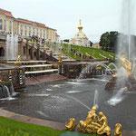 """Der """"Peterhof"""" - Eine ehemalige Zarenresidenz in der Nähe von St. Petersburg."""