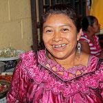 Auf dem großen Markt von Antigua/Guatemala.