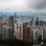 Blick vom Victoria - Peak auf Hongkong.