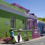 Das Malaienviertel von Kapstadt besticht durch seine bunten Häuser.