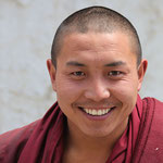 Einer von den rund 600 Mönchen im Kloster Tashilhunpo in Shigatse, der Residenz des Panchen Lama.