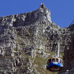 Mit der Gondelbahn zum Tafelberg.