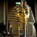 Grabschatz des Tutanchamun: Die Totenmaske des jungen Königs im Museum in Kairo.