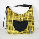 Tasche, Barcode, Gelb, schwarz, CMS