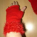 Handstulpen rot ca. 20 cm Länge (out)