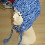Ohrenmütze blau