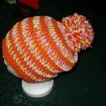 Häkelmütze orange und orangebunt