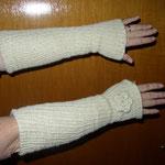 lange Armstulpen ca. 43 cm lang/mit oder ohne Blümchen