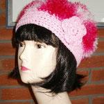 Häkelmütze rosa/pink