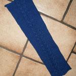 lange Armstulpen blau mit Zopfmuster  (out)