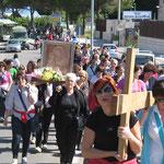 E' il 27 di maggio, un mese sentito dai pellegrini e, per questo motivo oggi c'è stata maggiore partecipazione.