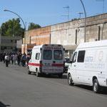 In questa giornata in cui siamo stati più numerosi, oltre ai Vigili urbani e alla Croce Rossa Italiana, siamo stati scortati anche dalla Protezione civile.