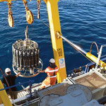 Deploying a CTD from the Southern Surveyor. Image from CSIRO CCBY.