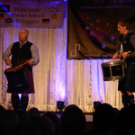 Mark Wilson und Arjen beim Drum Solo