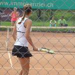 Belinda während dem Match gegen Laura Siegemund