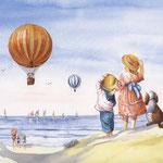Watching the balloon race