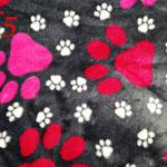Pfötchenstoff rosa/pink für Decken, Knochenkissen,... - Ausreichend vorrätig!