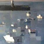 port de prefailles huile sur toile 80*60