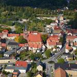Das Stadtzentrum von oben