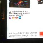 """Sans conteste la """"meieur"""" pub pour Orange jamais vue. Gare de Lausanne."""