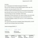 Schreiben Bundesvereinigung Kabarett e.V. vom 20.11.2009