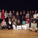 Ganadoras de las distintas modalidades, patrocinadores, colaboradores, directoras de escuelas