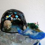 松本千恵ガラス作品と共に… 空と水の色