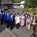 Alpabfahrt Schüpfheim - Einstellen für den Umzug