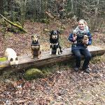 Emma, Penny, Tosca, Chicco und Candy