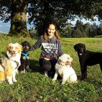 Myla, Utax, Quira, George und ich