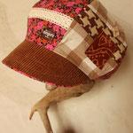 ピンクの秋色キャスケット 落ち着いた中に甘さが漂う~(たぽっとLサイズ)