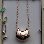 持ち込み写真を元に制作した猫のペンダントネックレス