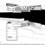 Proyecto Fin de Carrera Arquitectura. Planta primera y sección