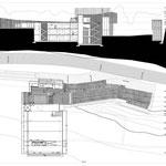 Proyecto Fin de Carrera Arquitectura. Planta tercera y sección