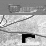 Proyecto Fin de Carrera Arquitectura. Planta de cubiertas y sección