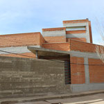 Vivienda unifamiliar Villafranca. Escorzo fachada principal