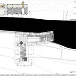 Proyecto Fin de Carrera Arquitectura. Planta baja y sección