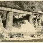 橋梁工事(昭和16年当時)