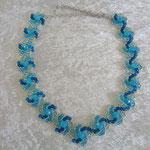 Hogarths crystal Curve Glasschliffperlen türkis 45 Euro