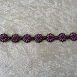 Superduo-Blümchen-Armband lila 18 Euro