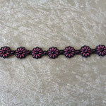 Superduo-Blümchen-Armband lila 18 Euro verkauft