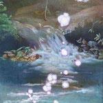 渓流とテントウムシ W23 x H33