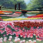 七色の絨毯 W180×H140 水彩、ガッシュ