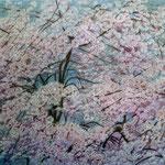 桜舞う(しだれ桜)W91.9×H65.2