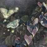 鼓舞(蝶とホタル) W18 x H14