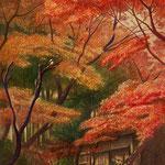 冬支度・12月(円覚寺付近・鎌倉市)W22.0×H27.3