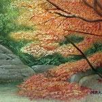 燃える季節(円覚寺にて)W18.0 ×H14.0