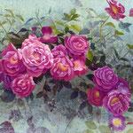 花束を贈る W180×H140 水彩、ガッシュ
