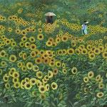 さんさん太陽・8月(ひまわりまつり・座間市)W27.3×H22.0